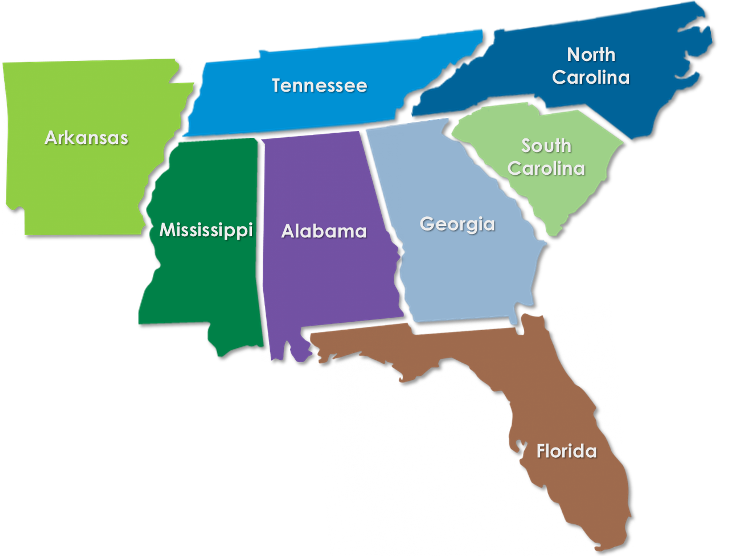 Map Of Georgia Florida And Alabama.Brokers Unlimited Specialty Food Sales And Marketing